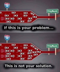 If this is your problem, more roads isn't the solution.